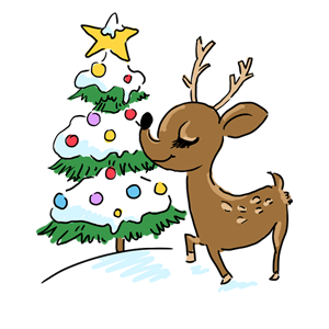 トナカイ クリスマス 動物 冬 なおこさんのフリーイラスト 無料素材 フリーイラスト アイコン 無料 イラスト イラスト無料 無料イラスト