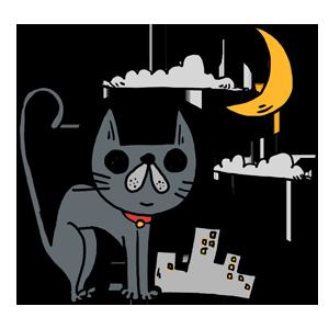 猫 黒猫 猫のイラスト なおこさんのフリーイラスト 無料素材 フリーイラスト アイコン 無料 イラスト イラスト無料 無料イラスト