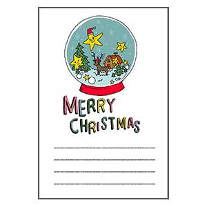 クリスマス スノードーム メッセージカード なおこさんのフリーイラスト 無料素材 フリーイラスト アイコン 無料 イラスト イラスト無料 無料イラスト