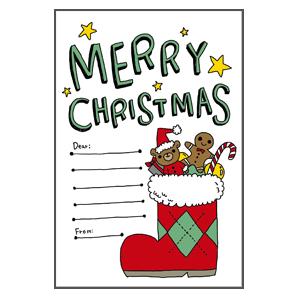 クリスマス クリスマスブーツ メッセージカード なおこさんのフリーイラスト 無料素材 フリーイラスト アイコン 無料 イラスト イラスト無料 無料イラスト