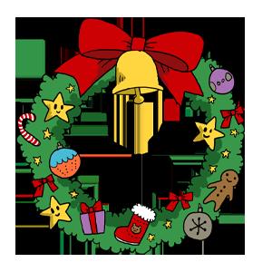 クリスマスリース クリスマス 冬 なおこさんのフリーイラスト 無料素材 フリーイラスト アイコン 無料 イラスト イラスト無料 無料イラスト
