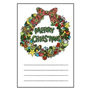 クリスマス クリスマスリース メッセージカード なおこさんのフリーイラスト 無料素材 フリーイラスト アイコン 無料 イラスト イラスト無料 無料イラストリース