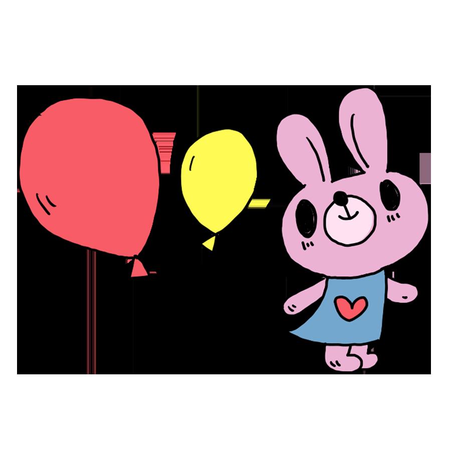 風船を持ったウサギ ウサギ うさぎ 風船 なおこさんのフリーイラスト 無料素材 フリーイラスト アイコン 無料 イラスト イラスト無料 無料イラスト