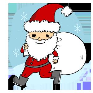 サンタ サンタクロース クリスマス 冬 なおこさんのフリーイラスト 無料素材 フリーイラスト アイコン 無料 イラスト イラスト無料 無料イラスト