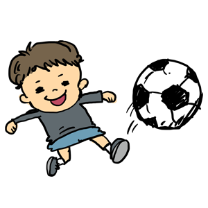 サッカー サッカー少年 子供 なおこさんのフリーイラスト 無料素材 フリーイラスト アイコン 無料 イラスト イラスト無料 無料イラスト