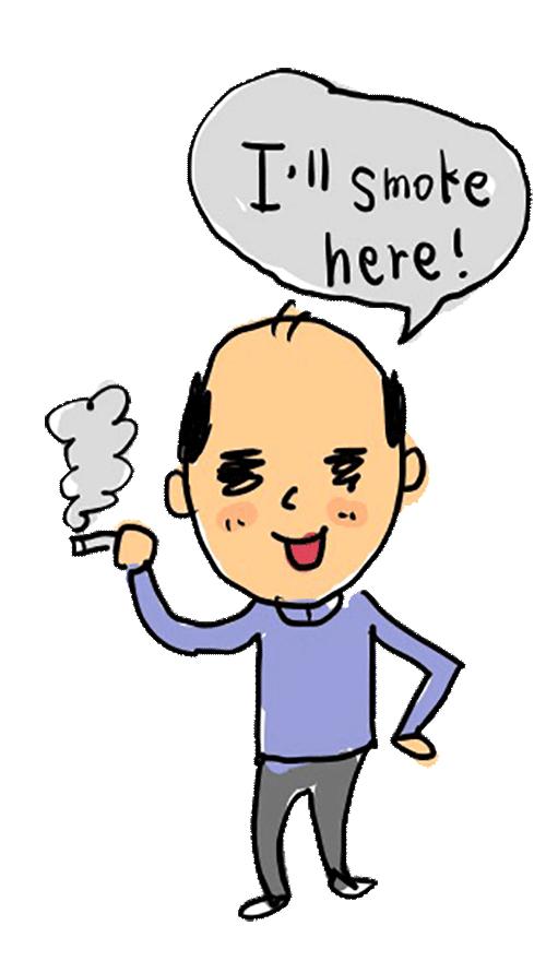 きもい おじさん タバコを吸う タバコ たばこ 煙草 ゆるかわ ゆめかわいい きもかわ きもかわいい キモかわいい なおこさんのフリーイラスト 無料素材 フリーイラスト アイコン 無料 イラスト イラスト無料 無料イラスト
