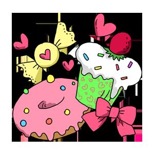キャンディー スイーツ 食べもの お菓子 カップケーキ ドーナツ なおこさんのフリーイラスト 無料素材 フリーイラスト アイコン 無料 イラスト イラスト無料 無料イラスト