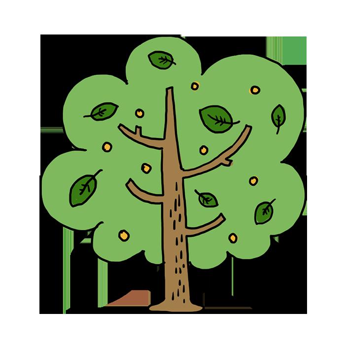 木 植物 なおこさんのフリーイラスト 無料素材 フリーイラスト アイコン 無料 イラスト イラスト無料 無料イラスト