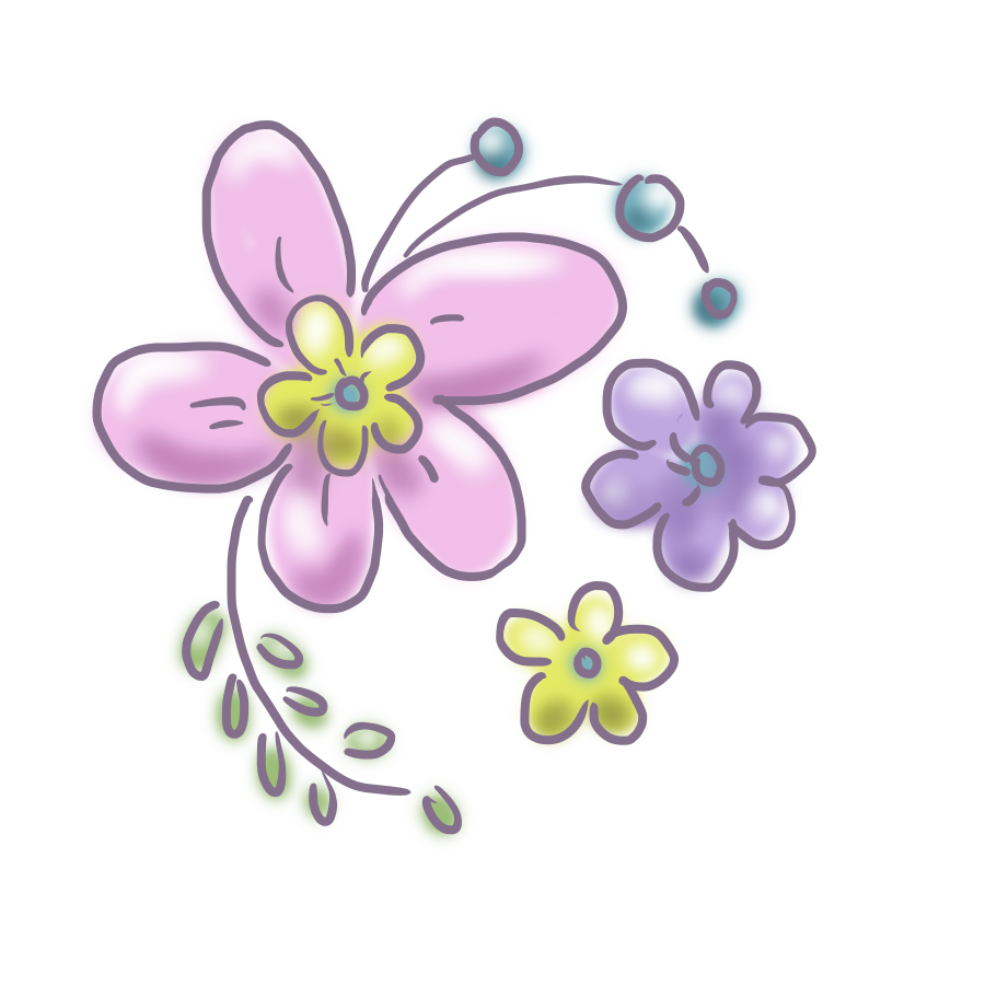 お花 花 飾り ゆるかわ ゆめかわいい ゆめかわ なおこさんのフリーイラスト 無料素材 フリーイラスト アイコン 無料 イラスト イラスト無料 無料イラスト