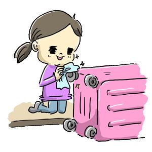 スーツケース 女の子 旅行 ゆるイラスト ゆるい なおこさんのフリーイラスト 無料素材 フリーイラスト アイコン 無料 イラスト イラスト無料 無料イラスト