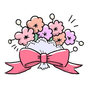 植物 花 花束 お花 ゆるイラスト ゆるい なおこさんのフリーイラスト 無料素材 フリーイラスト アイコン 無料 イラスト イラスト無料 無料イラスト