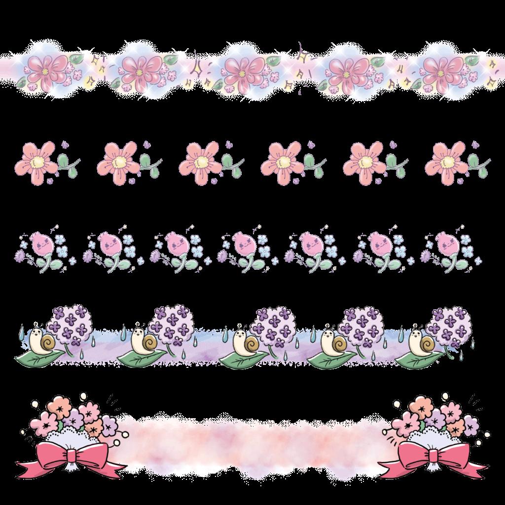 ラインアート ライン素材 飾り 花 お花 ゆるかわ ゆめかわいい ゆめかわ なおこさんのフリーイラスト 無料素材 フリーイラスト アイコン 無料 イラスト イラスト無料 無料イラスト
