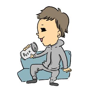 人物 ビール 男 男性 男の子 宅飲み 自粛 コロナ ゆるイラスト ゆるい なおこさんのフリーイラスト 無料素材 フリーイラスト アイコン 無料 イラスト イラスト無料 無料イラスト