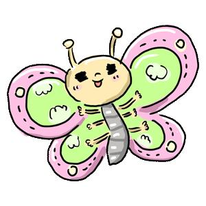 虫 動物 蝶々 ちょうちょ 春 季節 ゆるイラスト ゆるい なおこさんのフリーイラスト 無料素材 フリーイラスト アイコン 無料 イラスト イラスト無料 無料イラスト