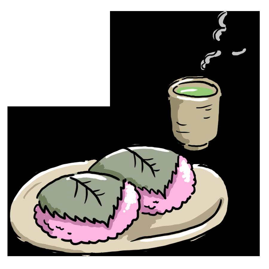 ゆるい ゆるいイラスト ゆるイラスト 桜もち お菓子 食べ物 お茶 お茶うけ 和菓子 春 季節 なおこさんのフリーイラスト 無料素材 フリーイラスト アイコン 無料 イラスト イラスト無料 無料イラスト