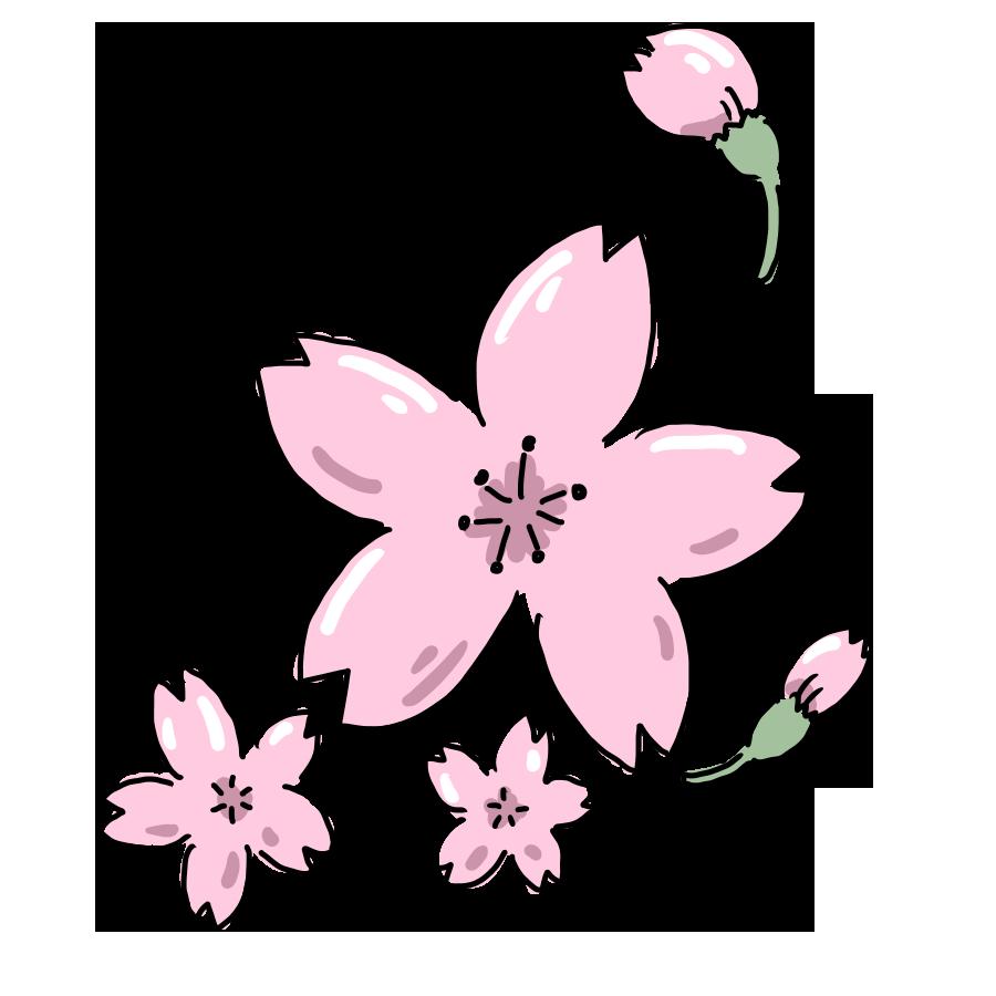 植物 花 桜 桜の木 お花 ゆるイラスト ゆるい なおこさんのフリーイラスト 無料素材 フリーイラスト アイコン 無料 イラスト イラスト無料 無料イラスト