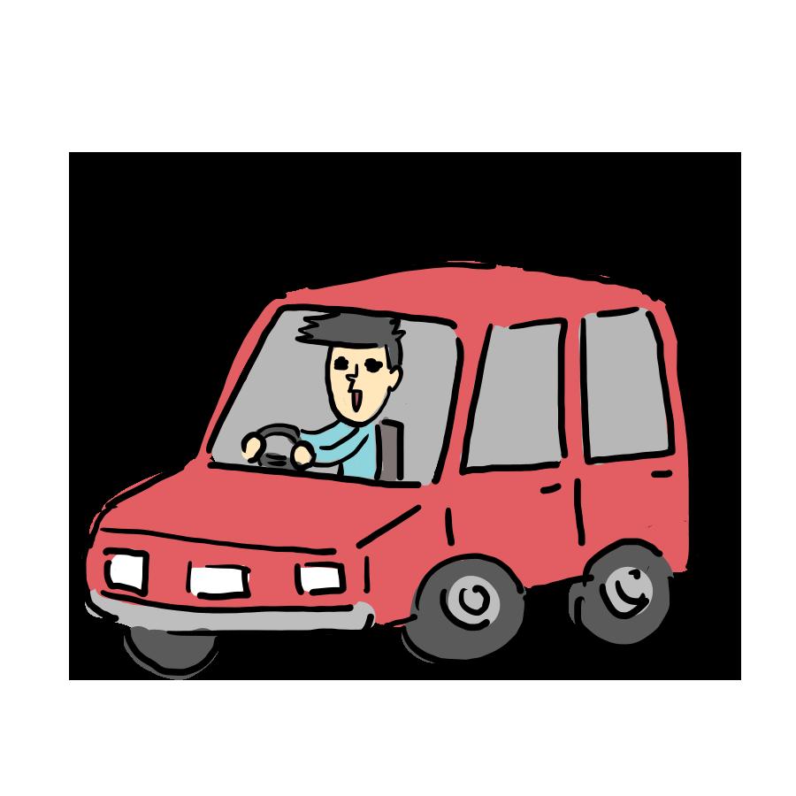 人物 車 運転 ドライブ 駐車場 男性 ゆるい ゆるイラスト ゆるいイラスト なおこさんのフリーイラスト 無料素材 フリーイラスト アイコン 無料 イラスト イラスト無料 無料イラスト