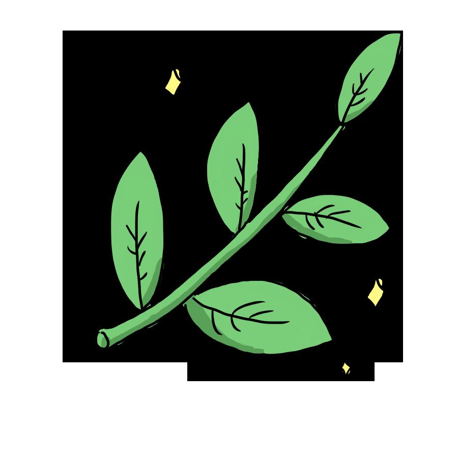 植物 草 春 葉 木 お花 ゆるイラスト ゆるい なおこさんのフリーイラスト 無料素材 フリーイラスト アイコン 無料 イラスト イラスト無料 無料イラスト