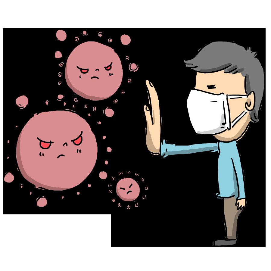 コロナ 新型コロナ ウイルス 風邪 マスク 感染 人物 男性 男の人 病気 ゆるい ゆるいイラスト なおこさんのフリーイラスト 無料素材 フリーイラスト アイコン 無料 イラスト イラスト無料 無料イラスト