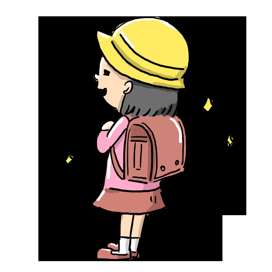 勉強 学校 子供 学習 ランドセル 女の子 ゆるい ゆるイラスト ゆるいイラスト なおこさんのフリーイラスト 無料素材 フリーイラスト アイコン 無料 イラスト イラスト無料 無料イラスト