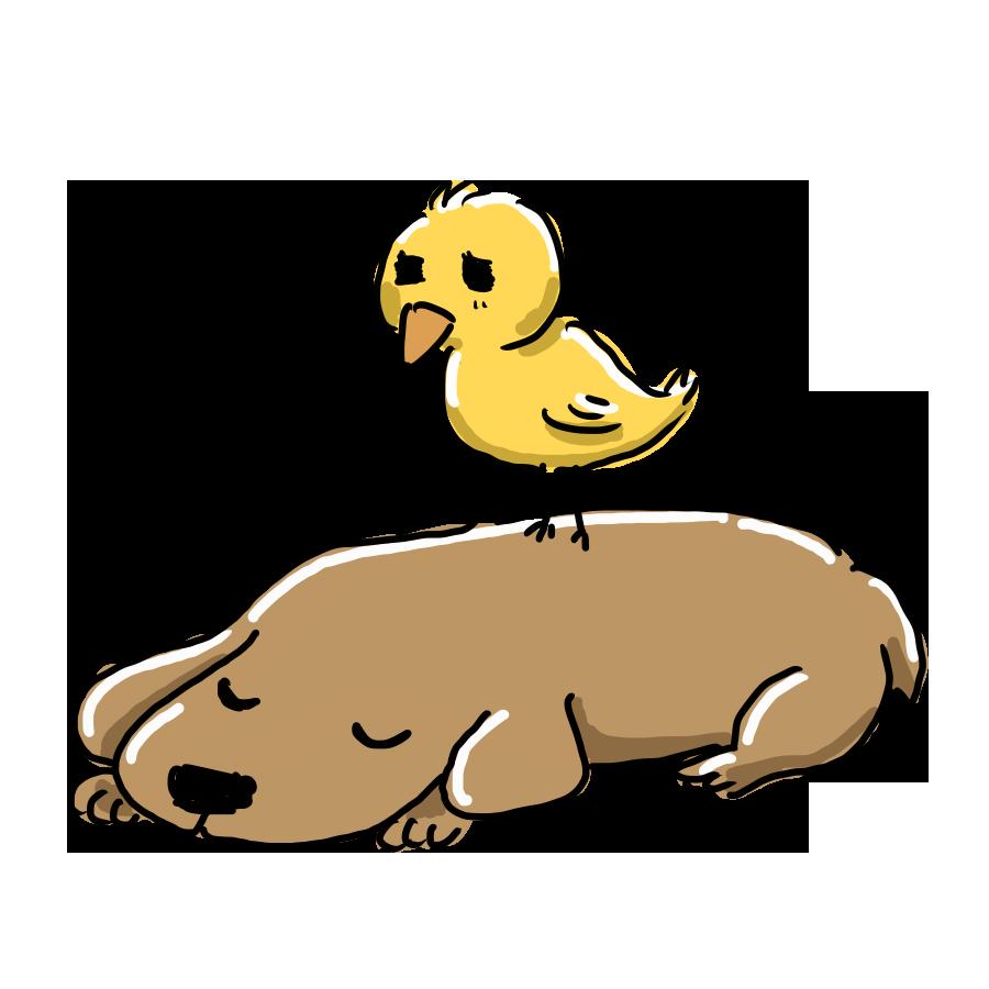 なおこさんのフリーイラスト 無料素材 フリーイラスト アイコン 無料 イラスト イラスト無料 無料イラスト ゆるいイラスト ゆるかわ ゆるい 動物 ひよこ 鳥 小鳥 犬