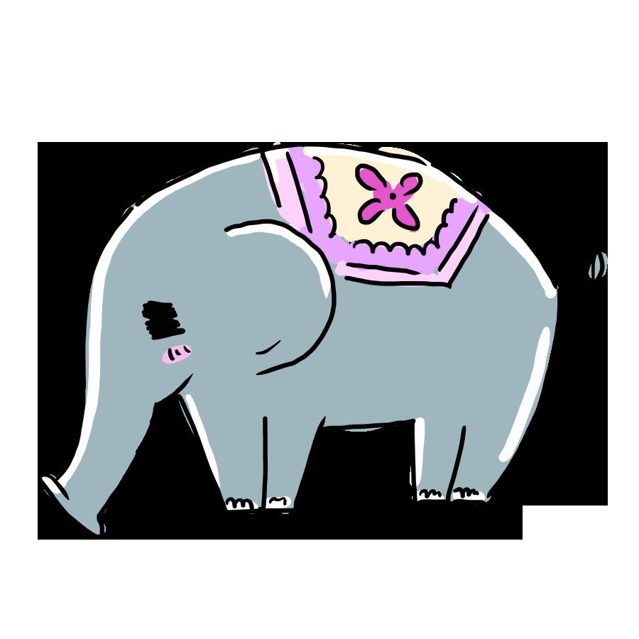なおこさんのフリーイラスト 無料素材 フリーイラスト アイコン 無料 イラスト イラスト無料 無料イラスト ゆるいイラスト ゆるかわ ゆるい 動物 ぞう ゾウ 象