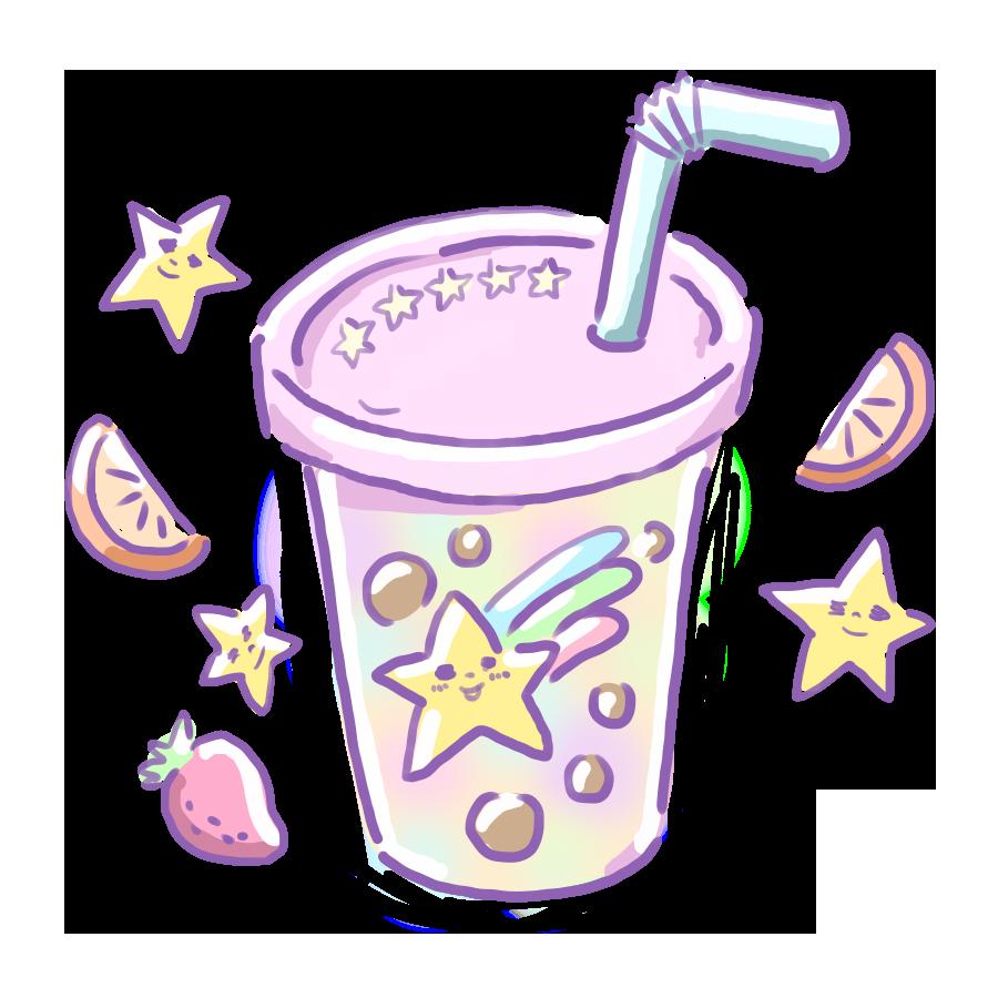 ゆめかわイラスト タピオカ ドリンク ジュース スイーツ 食べ物 飲み物 ゆめかわいい ゆるい ゆるいイラスト なおこさんのフリーイラスト 無料素材 フリーイラスト アイコン 無料 イラスト イラスト無料 無料イラスト