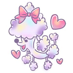 ゆめかわイラスト 犬 プードル ハート ピンク 動物 動物イラスト ゆめかわいい ゆるい ゆるいイラスト なおこさんのフリーイラスト 無料素材 フリーイラスト アイコン 無料 イラスト イラスト無料 無料イラスト