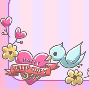 ゆめかわイラスト バレンタイン バレンタインカード カード テンプレート 鳥 小鳥 花 ハート ピンク 動物 動物イラスト ゆめかわいい ゆるい ゆるいイラスト なおこさんのフリーイラスト 無料素材 フリーイラスト アイコン 無料 イラスト イラスト無料 無料イラスト