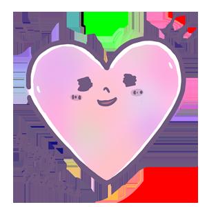ゆめかわイラスト ハート ピンク バレンタイン ゆめかわいい ゆるい ゆるいイラスト なおこさんのフリーイラスト 無料素材 フリーイラスト アイコン 無料 イラスト イラスト無料 無料イラスト