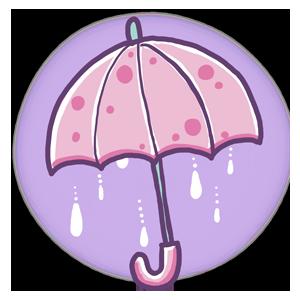 ゆめかわイラスト 傘 ピンク umbrella 梅雨 6月 雨 夏  ゆめかわいい ゆるい ゆるいイラスト なおこさんのフリーイラスト 無料素材 フリーイラスト アイコン 無料 イラスト イラスト無料 無料イラスト