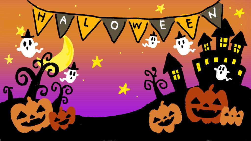 かぼちゃ カボチャ ハロウィーン ハロウィン お化け 季節のイラスト 季節 秋 ゆるい ゆるいイラスト なおこさんのフリーイラスト 無料素材 フリーイラスト アイコン 無料 イラスト イラスト無料 無料イラスト